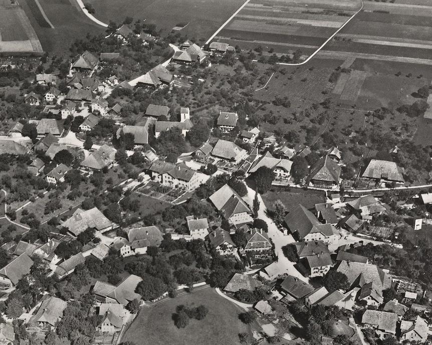 Koppigen von oben in schwarz-weiss fotografiert im Jahr 1928.